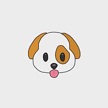 犬の画像(絵文字 手描きに関連した画像)