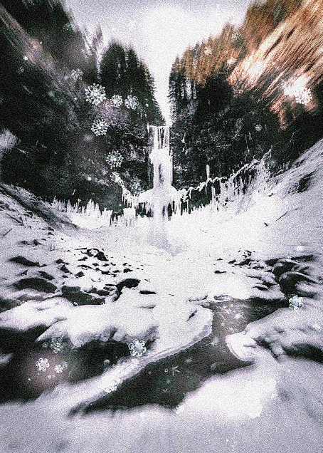 雪 冬の画像(プリ画像)