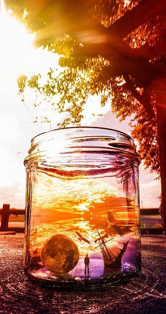 瓶の中の世界の画像(プリ画像)