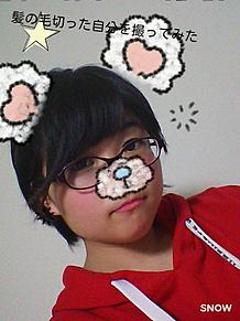 髪の毛切った自分を自撮りした!の画像(イメチェンに関連した画像)