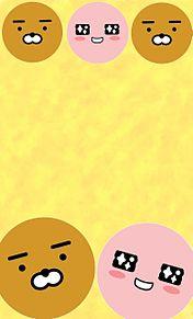 カカオフレンズ壁紙(ライアン&アピーチ)の画像(カカオフレンズ ピーチ 壁紙に関連した画像)