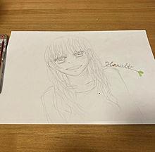 この前投稿したデジ画の原画と久しぶりに描いた絵です(*´꒳`*) プリ画像