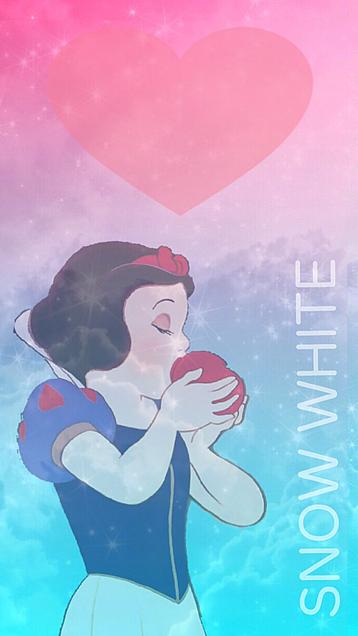 グラデーションの白雪姫