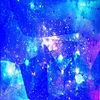 宇宙柄 青 使用時説明へ プリ画像