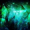 宇宙柄  青緑 使用時説明文へ プリ画像