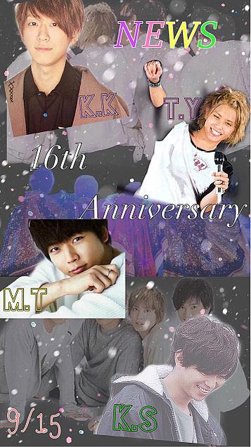 NEWS 16th Anniversary 🎊🎉の画像(プリ画像)