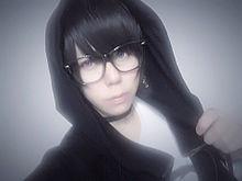 (黒)髪×メガネ×フード×チョーカーの画像(チョーカーに関連した画像)