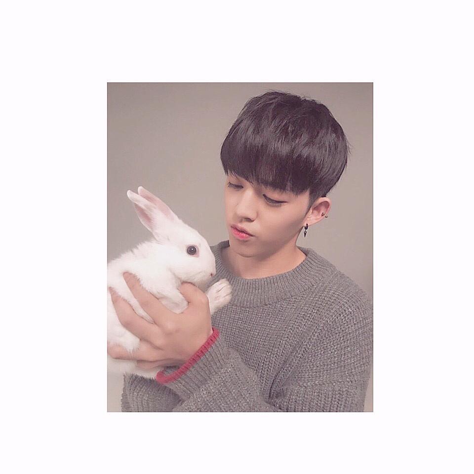 ウサギとあそんでいるS.Coups