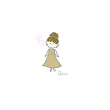 お団子の女の子 プリ画像
