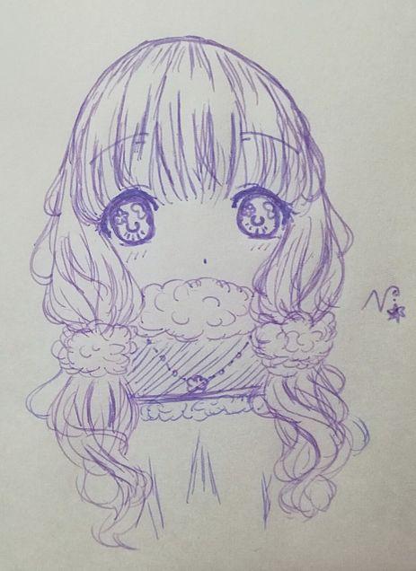 ((φ(>~<*)カキカキ……モコモコ!!の画像(プリ画像)