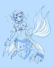 海のお姫さま プリ画像