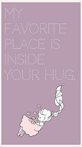 「私のお気に入りの場所は、あなたのハグの中。」の画像(ガーリーに関連した画像)