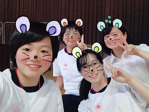 高校の友達と写真を撮ったやつだよ😉💗✌️🏻の画像(プリ画像)