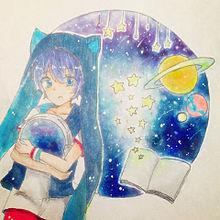 ビー玉の中の宇宙の画像(プリ画像)
