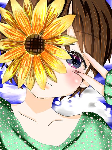 優しく元気なあなたに向日葵咲いた。の画像(プリ画像)