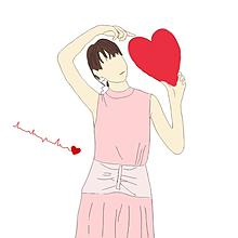 (保存はいいね♡)恵梨香ちゃんイラスト加工 プリ画像
