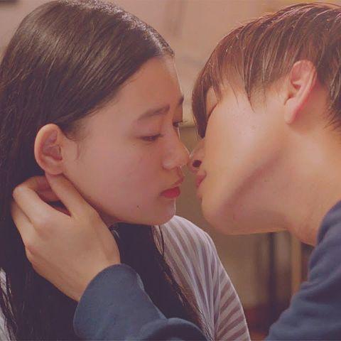 キスする寸前の画像(プリ画像)