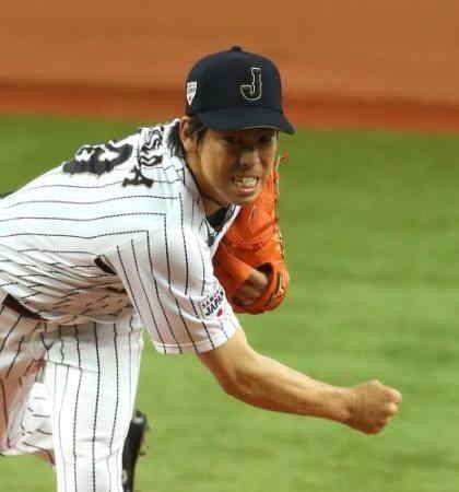 プロ野球選手の前田健太投手!日本代表戦の壁紙
