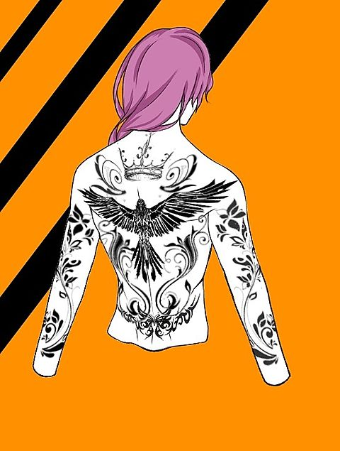 背中 タトゥーの画像(プリ画像)