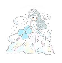 もくもくドレス〜👗の画像(イラスト ゆるいに関連した画像)