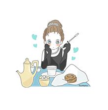 ティファニーで朝食を🥐の画像(ゆるいに関連した画像)