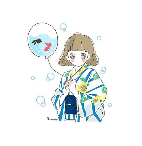 金魚風船🎈の画像 プリ画像