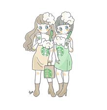 キャラメルフラペチーノ☕抹茶フラペチーノ☕の画像(スターバックスコーヒーに関連した画像)