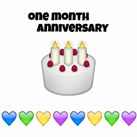 one month anniversary の画像(プリ画像)