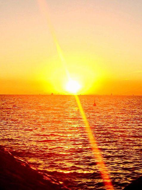 夕暮れの海2の画像(プリ画像)