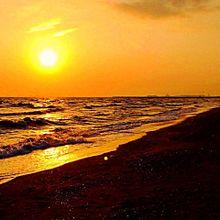 夕暮れの海4の画像(プリ画像)