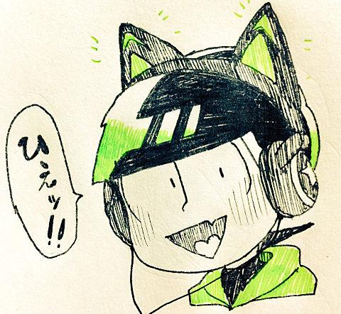 猫耳ヘッドホン💚の画像(プリ画像)