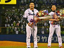 引退セレモニーの画像(東京ヤクルトスワローズに関連した画像)