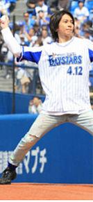 4月7日野球始球式 インハンド 山下智久の画像(始球式に関連した画像)