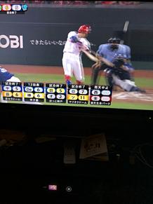 プロ野球 広島安部 サヨナラホームラン プリ画像