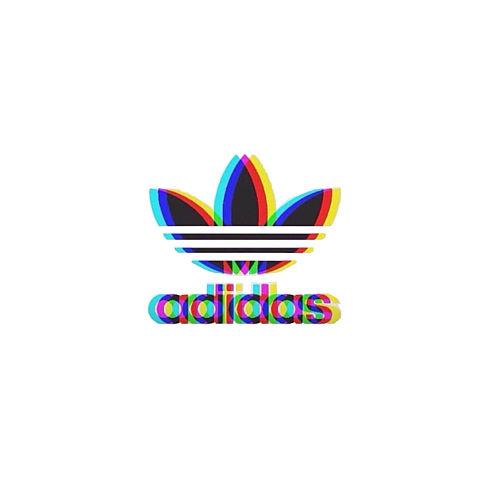 adidas 可愛い 二重 グラデーション ぼかしの画像(プリ画像)