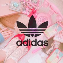 adidas ファンシー 小物 お姫様 ピンク PINKの画像(恋/好き/ポエム/片思いに関連した画像)