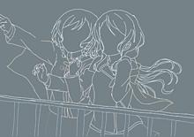 氷川紗夜 日菜 線画の画像(紗夜に関連した画像)