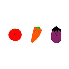 野菜さん達の画像(野菜に関連した画像)