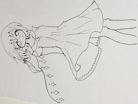 紅魔館の休日ーフラン編ー(線画)の画像(プリ画像)