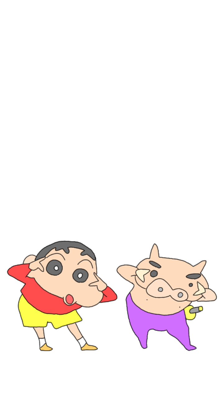 クレヨンしんちゃん iPhone壁紙の画像(プリ画像)