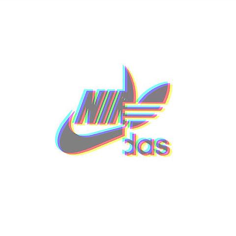 NIKE adidas ロゴの画像(プリ画像)