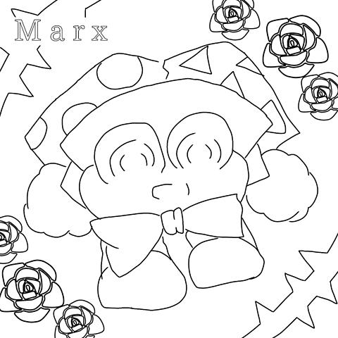 マルク塗り絵【差分付】の画像(プリ画像)