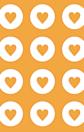 ハート オレンジ 橙色 プリ画像