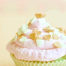 カップケーキ 黄色 イエロー ハートの画像(黄色 スイーツに関連した画像)