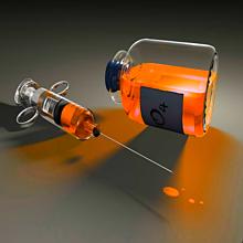 注射器 薬 オレンジ 橙色の画像(プリ画像)