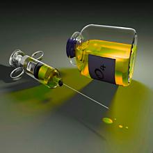 注射器 薬 イエロー 黄色の画像(プリ画像)