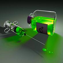 注射器 薬 グリーン 緑色の画像(プリ画像)