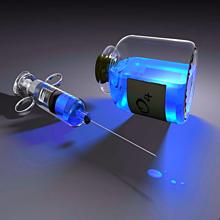 注射器 薬 青色 水色 スカイブルーの画像(プリ画像)