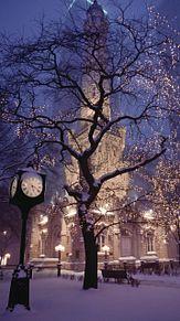 冬の夜の街の画像(冬 外国 街に関連した画像)