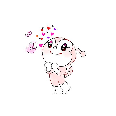 ゆめかわいいドキンちゃん手描きイラストすき恋おしゃれ青春JKの画像(プリ画像)